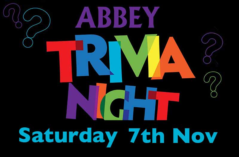 Abbey Trivia Night graphic