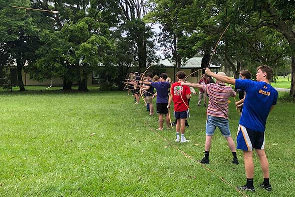 archery activity in the knights program