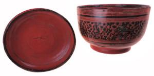 Burmese Bowl decorated with monkeys