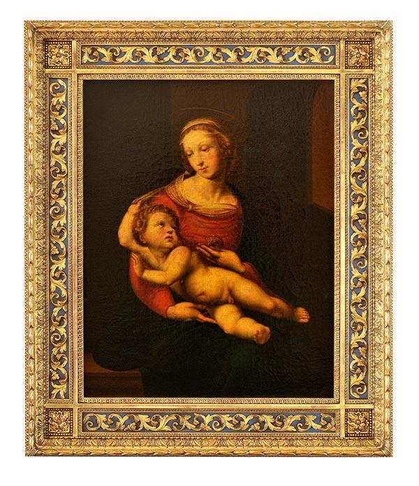 copy of Raphael's 'Bridgewater Madonna' painting