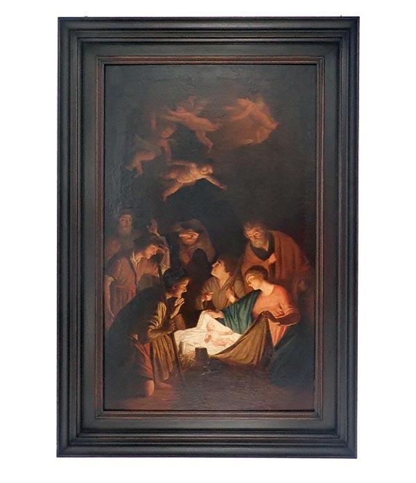 'Adoration of the Shepherds' Gerrard van Honthorst painting