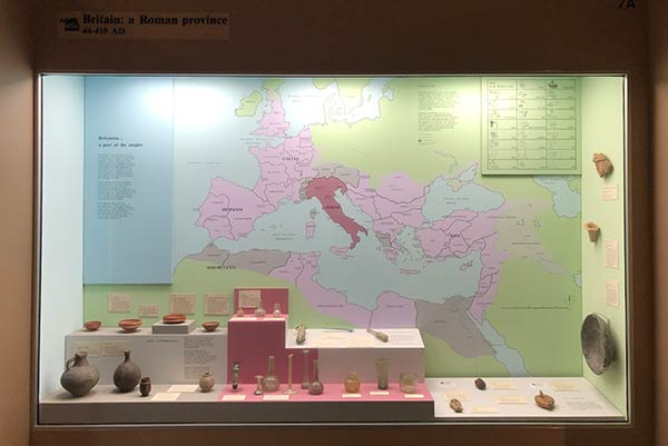 Roman map in the museum