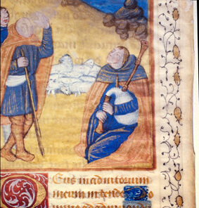 Shepherds in manuscript