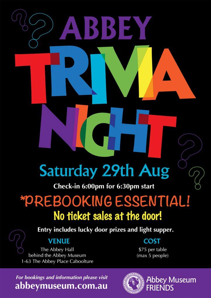 August Trivia flyer