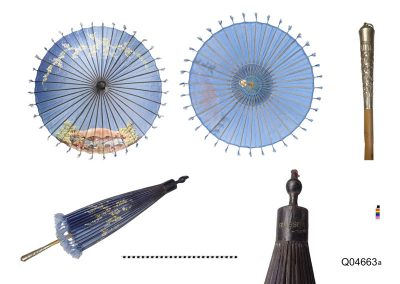 parasol with painted decoration