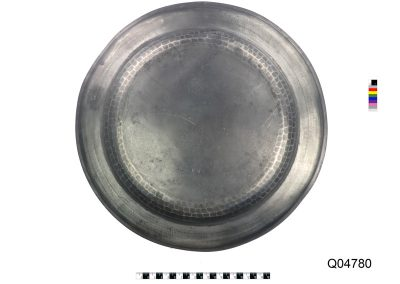 pewter plate marked WH