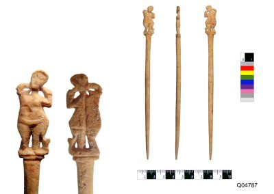 bone pin decorated with Venus