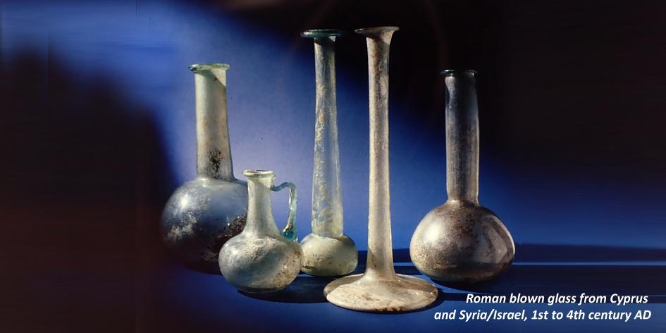 ROMAN GLASS BOTTLES